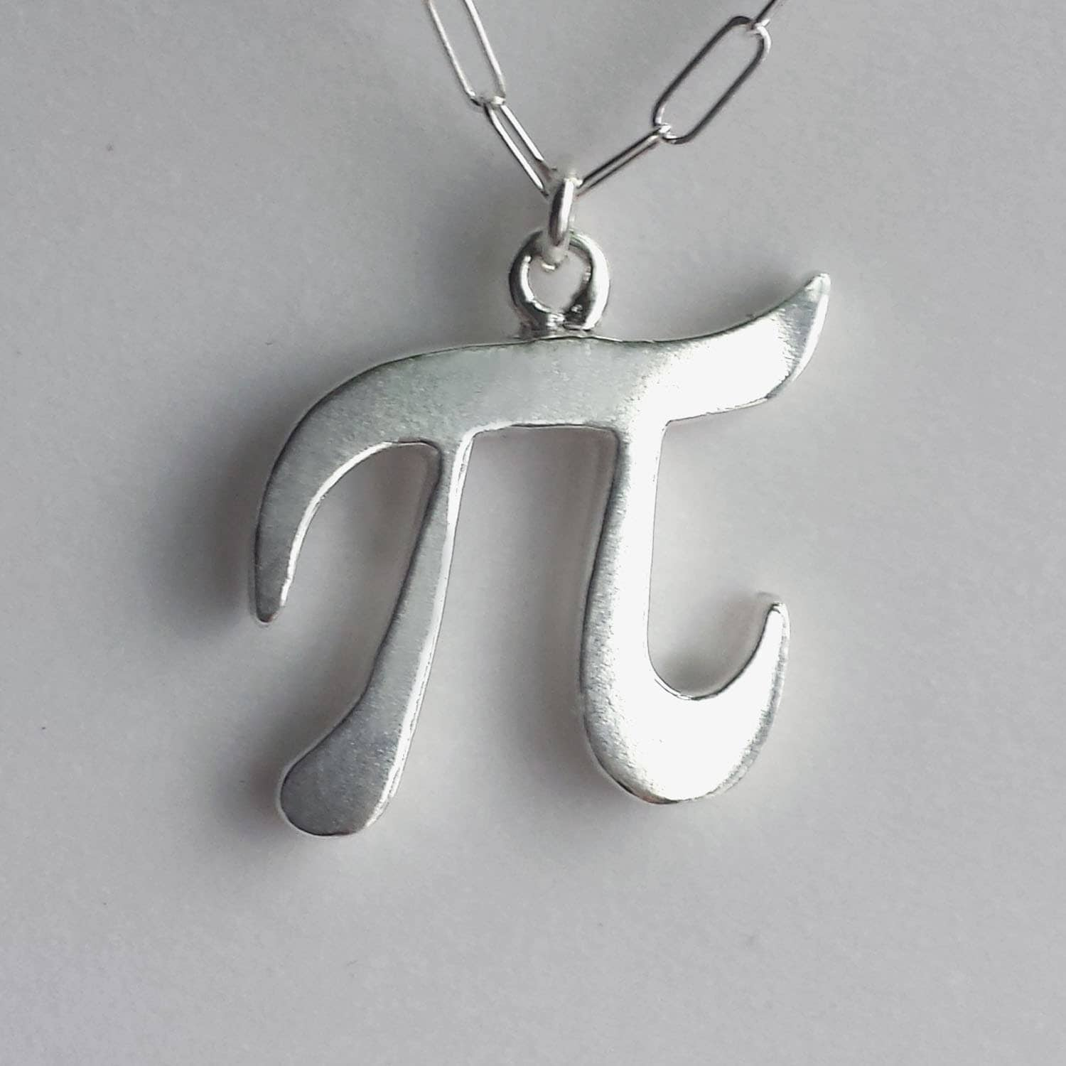 pi necklace sterling silver geekery solid silver pi