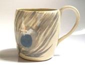 peacock feather mug - Ceramic mug - Coffee mug - tea mug