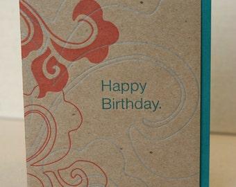 Happy Birthday Card Letterpress