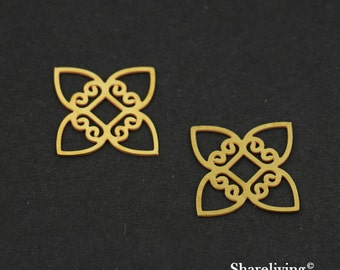 Exclusive - 10pcs Raw Brass Geometric Charm / Pendant, Fit For Necklace, Earring, Brooch - TG159