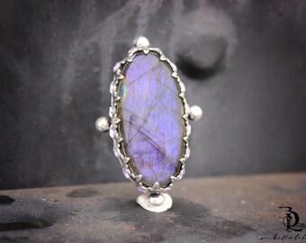Purple Labradorite // Enchantress No 6 // Purple Labradorite Swarovski Rhinestones Sterling Silver gemstone, welded by Bellalili