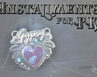Reserved Installment Plan Gypsy // Wonderust Series // Kingman Mojave Purple and Sleeping Beauty Turquise gemstone Sterrling by Bellalili