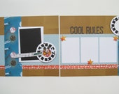 Cool Rules, Disney Premade or  DIY Kit, 12x12 Scrapbook Layout, Scrapbook Page Kit