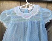 1950s Sheer Dress and Bonnet  9/12 Months