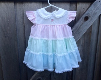 Pastel Ruffle Dress 18/24 Months