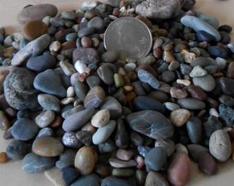 Natural Decorative Rocks, Three Pounds, Flat Rate Shipping, Miniature Garden, Decorative Pebbles, Deccrative Stone , Zen Garden Rocks