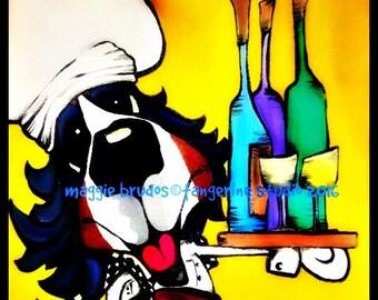 bernese mountain dog BMD sale happy berner chef wine butler fat  dog love  Original maggie brudos tangerine studio