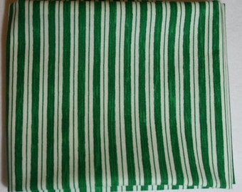 Green and White Stripe Christmas Cotton Fabric Windham Paper Dolls Christmas 30862-4 Christmas cotton fabric by the fat quarter or half yard