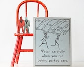 FOR PENNIEB Vintage Safety Poster, Car and Bus Safety RESERVED