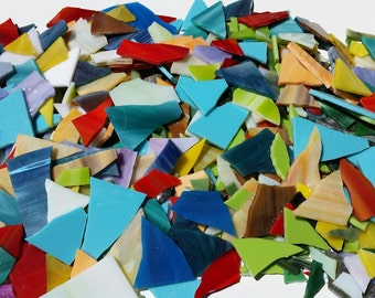 5 Pounds Beautiful variety of Stained Glass Scrap Pieces- Mosaic Supplies-