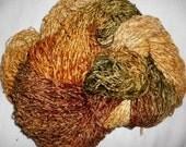 Handpainted Soft Rayon Chenille Yarn  HONEYSUCKLE  -  325 yds