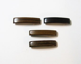 Four Hair Clips Made Of  Wood
