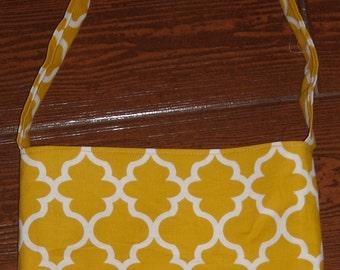 Mustard lattice toddler purse
