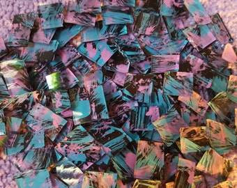 Mosaic Tiles Stunning pink aqua black Glass Mosaic Tile