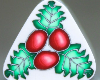 """Holly Berries and Leaves Cane -""""Holly Jolly"""" (51E)"""