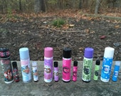 Pick Two Vegan Lip Conditioners .15 oz and Sample Vials of Silky Perfume Oil
