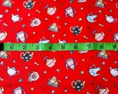 Mary Engelbreit Red Cotton Fabric, Teapots, 1 Yard