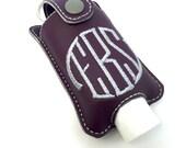 Personalized Monogram keychain fits 2oz hand sanitizer holder monogrammed vinyl