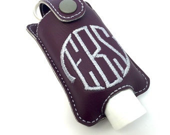 Personalized Monogram keychain fits 2oz hand sanitizer holder monogrammed vinyl