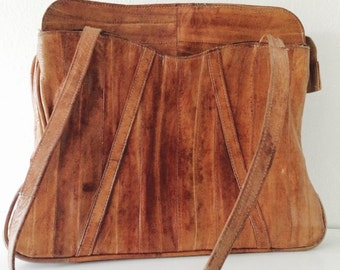Vintage Eel Skin Purse in Brown
