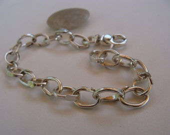 Sterling Silver Handcrafted Artisan Linked Bracelet