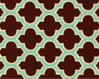 FAT QUARTER - Joel Dewberry Fabric, Aviary 2, Lodge Lattice Caramel Cotton Quilting Fabric, Free Spirit