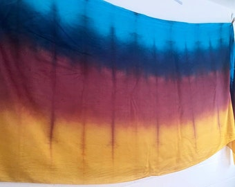 Belly dance costume silk veil ombre hand dyed in Hawaii DISCOUNTED