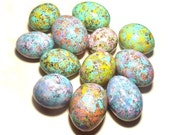 Easter Eggs Spring Painted Gourds 12 Easter Basket Bowl Filler Egg Gourds Decorations Ornaments Pastel Dozen Speckled Eggs Easter Decor