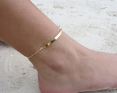 Anklet Ankle Bracelet Friendship Bracelet Personalized Gift Gold Boho Bridesmaid Gift Hippie Personalized Jewelry Birthday Gift