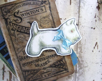 Gifts Tags Vintage Scottie Dogs Set for DIY Crafts, Scrapbooking, Gifts