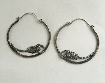 scorpion hoop earrings