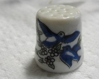 Vintage Blue Bird Thimble