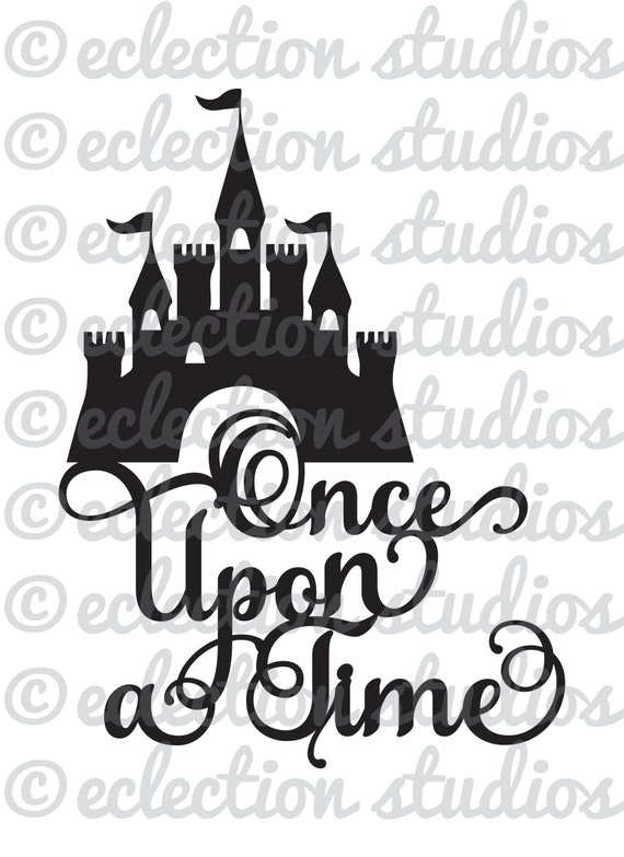 Princess Castle Svg Once Upon A Time Magical Birthday Cake