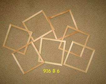 7 unfinished wood 6.5x6.5 picture frames (my 916 B 6.5)