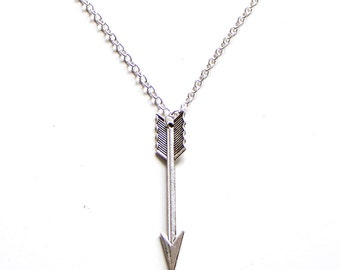 Arrow Necklace Antique Silver // Antique Bronze