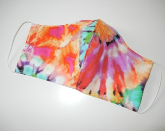 Fabric Surgical Face Mask in Groovy Tie Dye