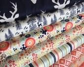 Woodland Animals Fabric, Deer Fabric, Woodland Springs Fabric Riley Blake, Fox Fabric, Quilting Fabric-Fabric Bundle of 8, choose your cut