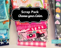 SALE Fabric Scraps, Scrap Fabric, Scrap Pack of Designer Fabric, Scraps of Fabric, Best Seller! Choose the Color, Free Shipping Available