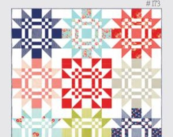 """SALE 20% off Quilt Patterns, Red Letter Day Quilt Pattern by Camille Roskelley for Thimble Blossoms, Quilt size 67.5"""" by 67.5,"""