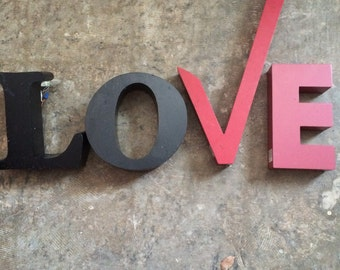 L O V E... 4 letters ~ home industrial metal sign ~ wall decor ~ steampunk design ~ rare find ~ display