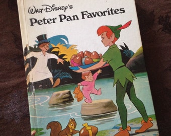 Vintage Book Walt Disney's Peter Pan's Favorites