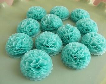 Button Mums Tissue Paper Flowers Robin's Egg Blue, Light Teal, Turquoise  Wedding, Bridal Shower, Baby Shower Decor