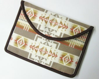 "12"" MacBook Laptop Cover Sleeve Case Native American Print Wool Tribal Inspired Chief Joseph"
