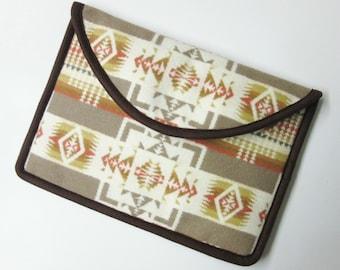 "12"" MacBook Laptop Cover Sleeve Case Native American Print Wool Tribal Inspired Chief Joseph"