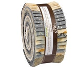 "Robert Kaufman SATSUKI VINTAGE Metallic Roll Up 2.5"" Precut Fabric Quilting Strips Jelly Roll RU-539-40"