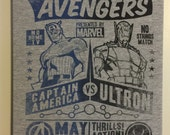 Avengers Fight of the Century Up-Cycled Wall Art