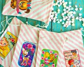 Valentine Fabric Drawstring Treat Bags, Vintage Desgins -- YOU PICK Your Favorite