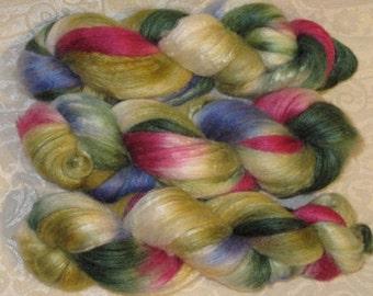 Handpainted Roving -- 60/40 Polwarth Wool/Silk