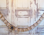 Happy Retirement banner, Happy Retirement, Retirement Party, Retirement Party Decor, Retirement banner, Retirement sign