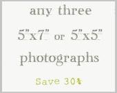 Save 30% /  Photography Print Set 5x5 5x7